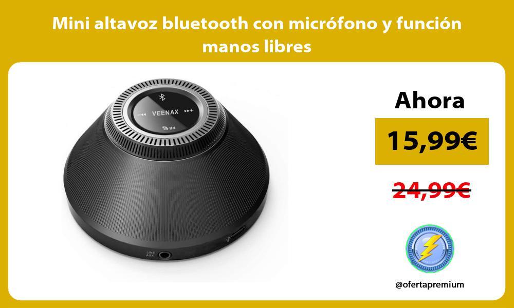 Mini altavoz bluetooth con micrófono y función manos libres
