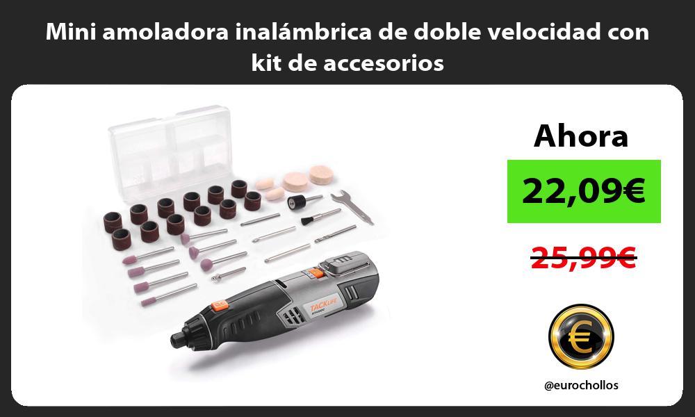 Mini amoladora inalámbrica de doble velocidad con kit de accesorios