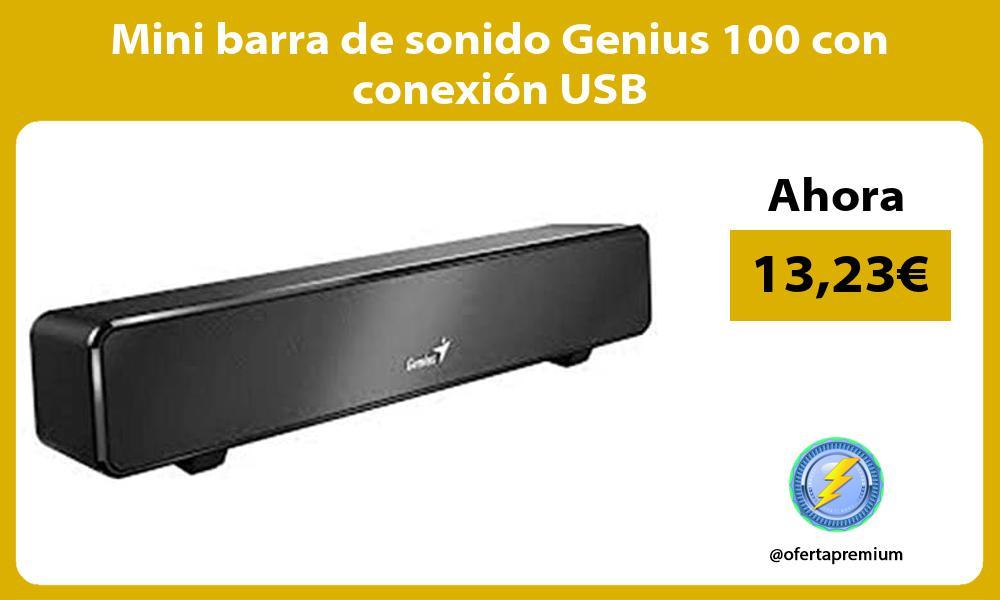 Mini barra de sonido Genius 100 con conexión USB