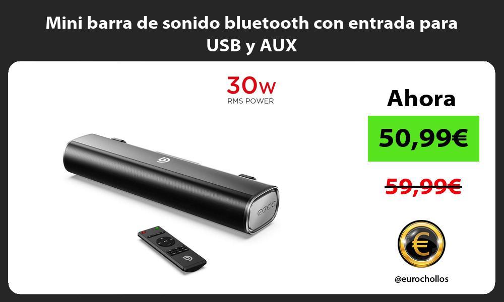 Mini barra de sonido bluetooth con entrada para USB y AUX
