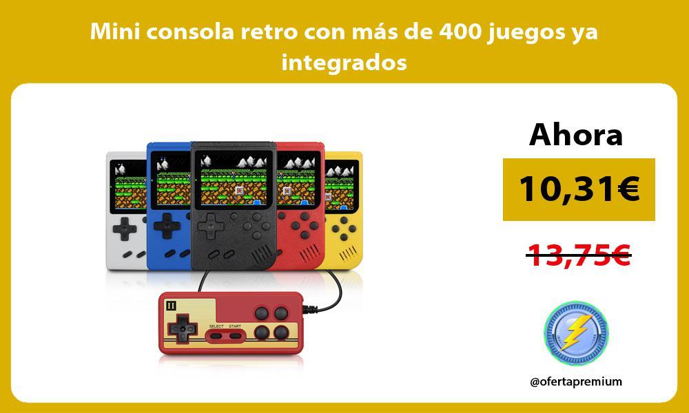 Mini consola retro con más de 400 juegos ya integrados
