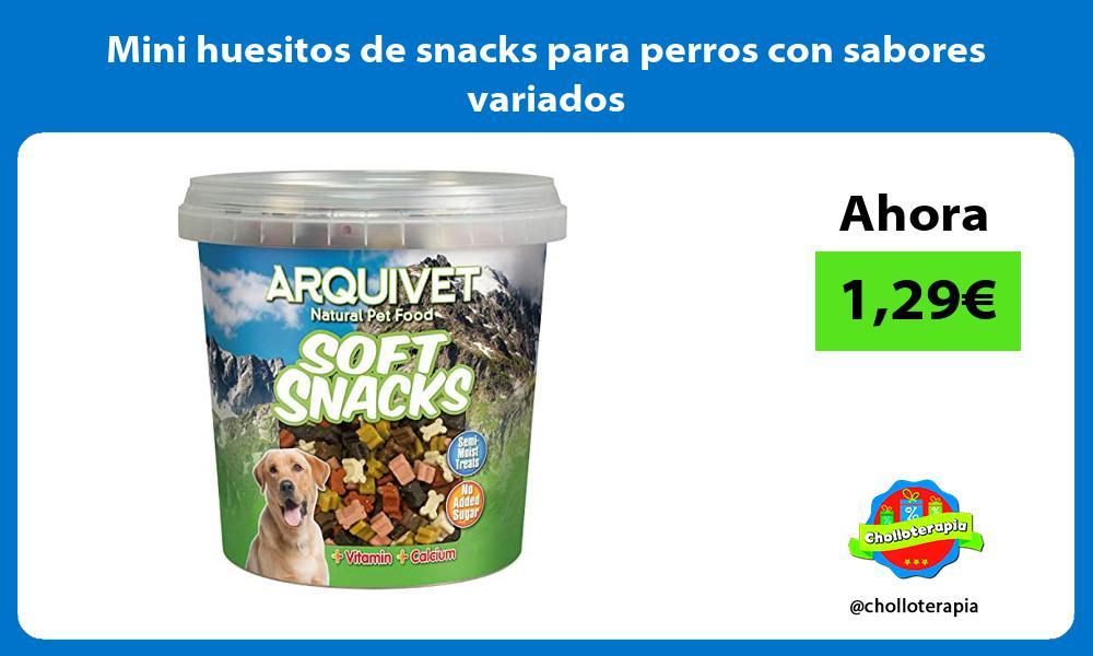 Mini huesitos de snacks para perros con sabores variados