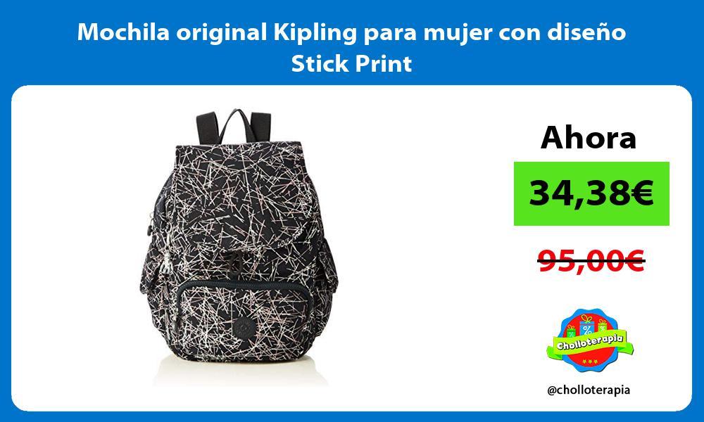 Mochila original Kipling para mujer con diseño Stick Print