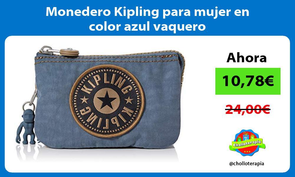 Monedero Kipling para mujer en color azul vaquero