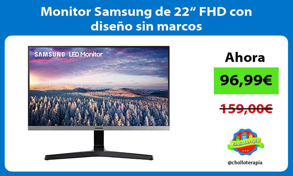 """Monitor Samsung de 22"""" FHD con diseño sin marcos"""