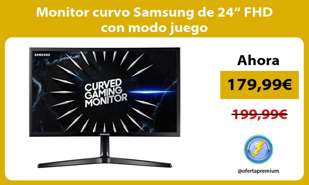 """Monitor curvo Samsung de 24"""" FHD con modo juego"""
