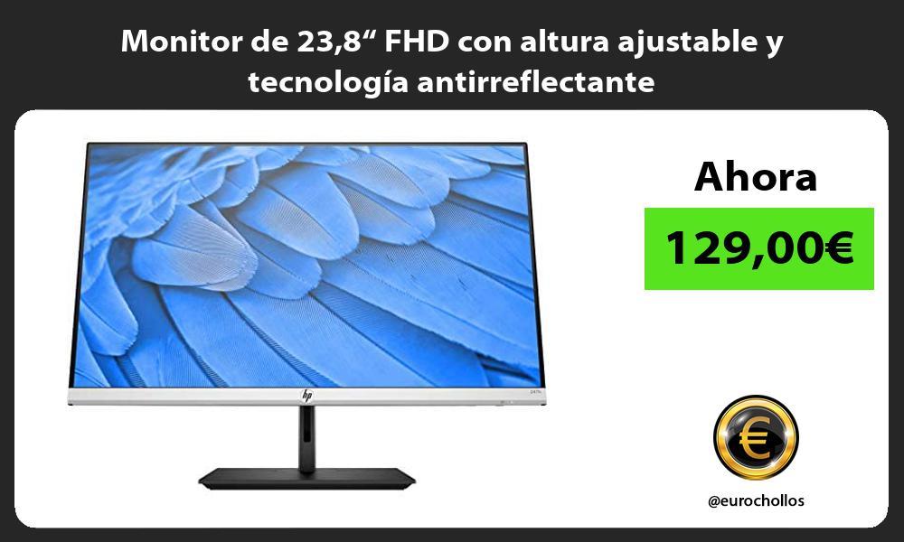 """Monitor de 238"""" FHD con altura ajustable y tecnología antirreflectante"""