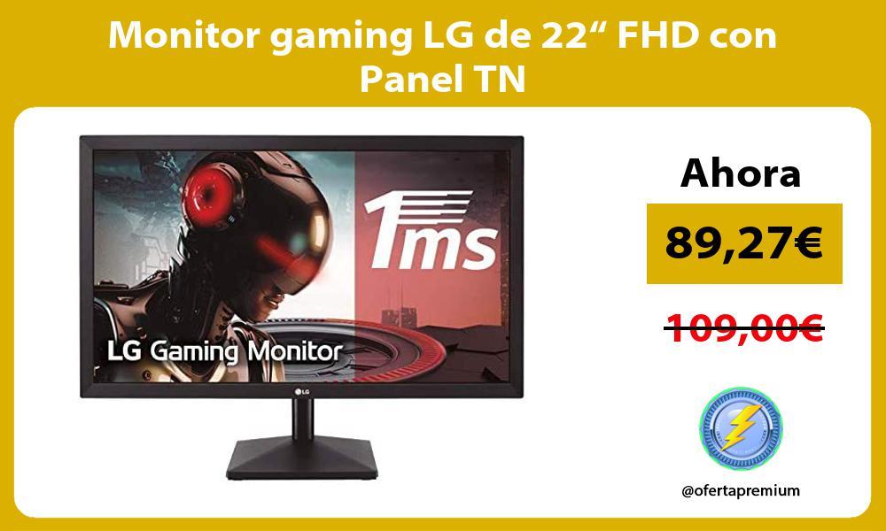 "Monitor gaming LG de 22"" FHD con Panel TN"