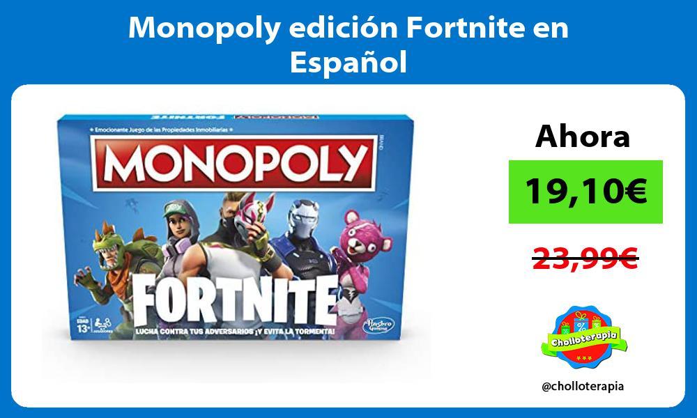 Monopoly edición Fortnite en Español