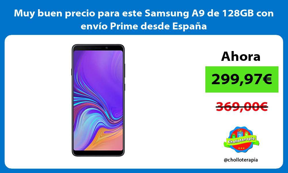 Muy buen precio para este Samsung A9 de 128GB con envío Prime desde España