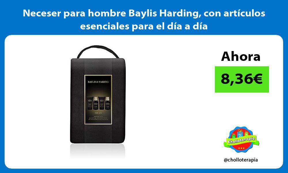 Neceser para hombre Baylis Harding con artículos esenciales para el día a día