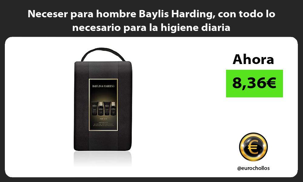 Neceser para hombre Baylis Harding con todo lo necesario para la higiene diaria