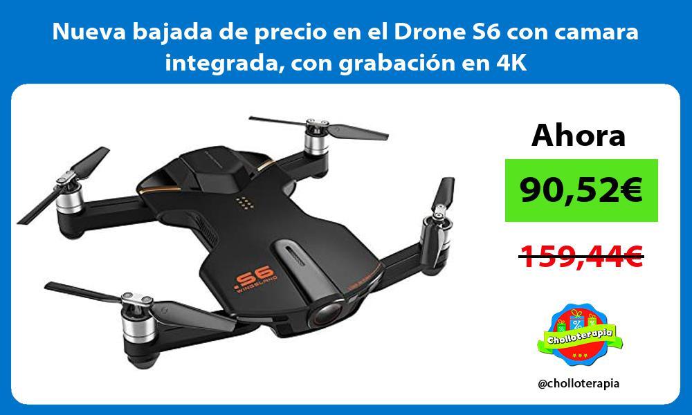 Nueva bajada de precio en el Drone S6 con camara integrada con grabación en 4K
