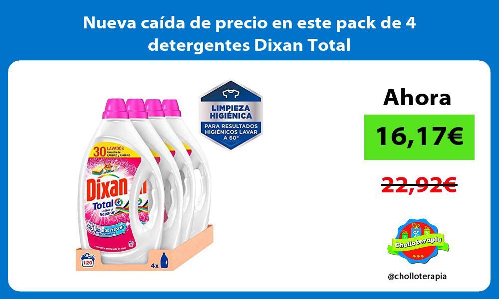 Nueva caída de precio en este pack de 4 detergentes Dixan Total