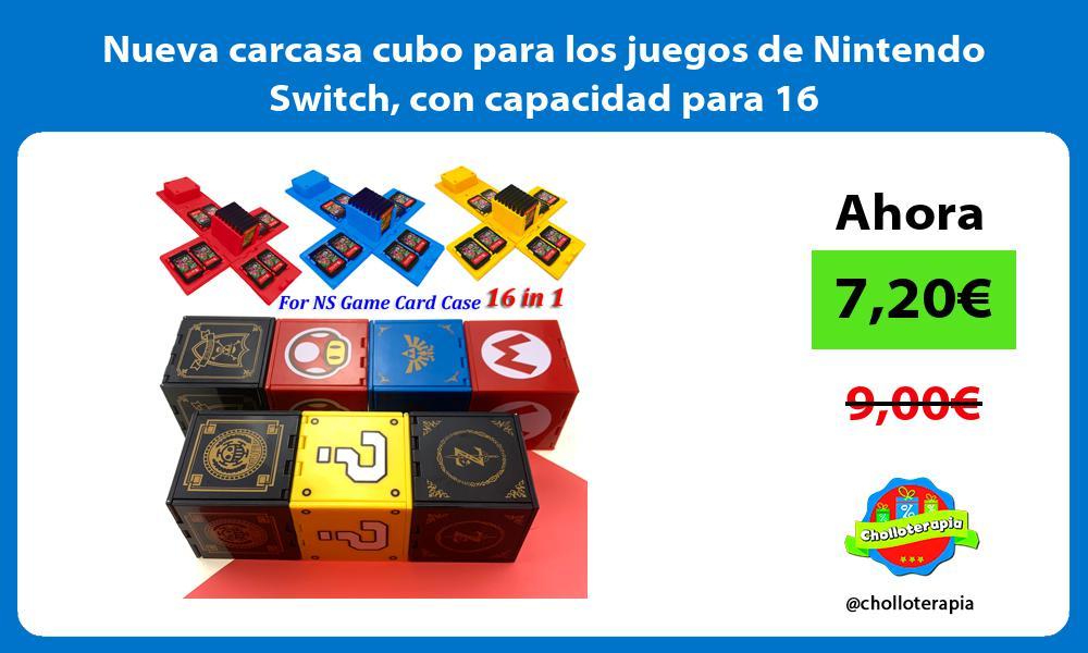 Nueva carcasa cubo para los juegos de Nintendo Switch con capacidad para 16