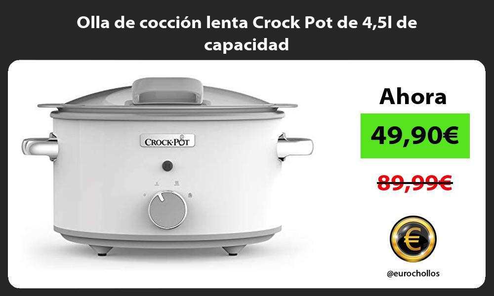 Olla de cocción lenta Crock Pot de 45l de capacidad