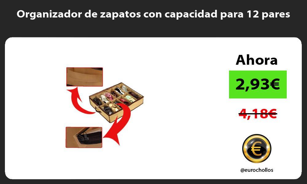 Organizador de zapatos con capacidad para 12 pares