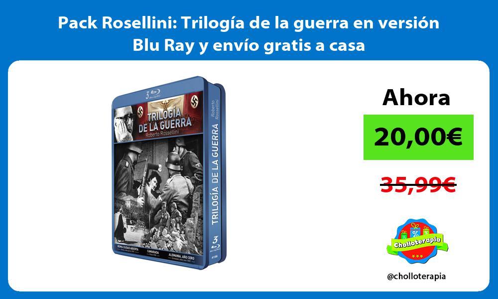 Pack Rosellini Trilogía de la guerra en versión Blu Ray y envío gratis a casa