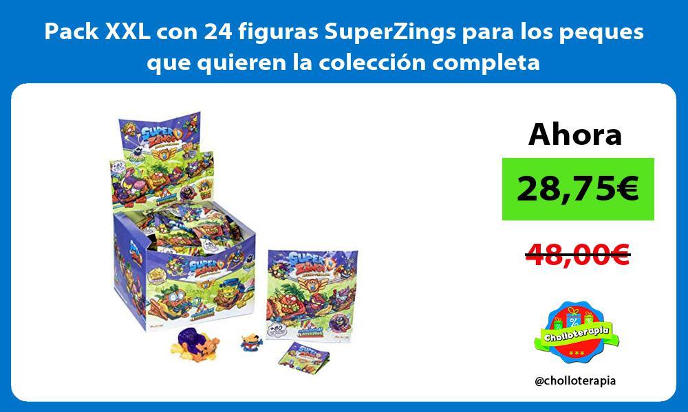 Pack XXL con 24 figuras SuperZings para los peques que quieren la colección completa