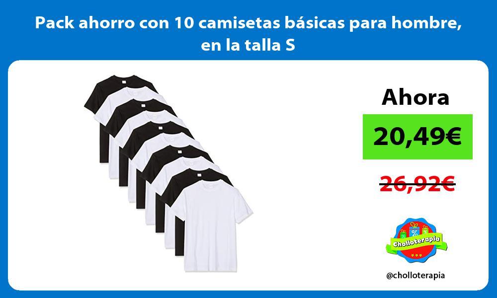 Pack ahorro con 10 camisetas básicas para hombre en la talla S