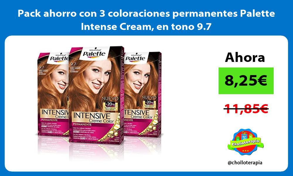 Pack ahorro con 3 coloraciones permanentes Palette Intense Cream en tono 9 7