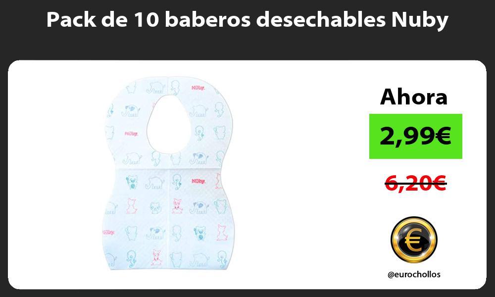 Pack de 10 baberos desechables Nuby