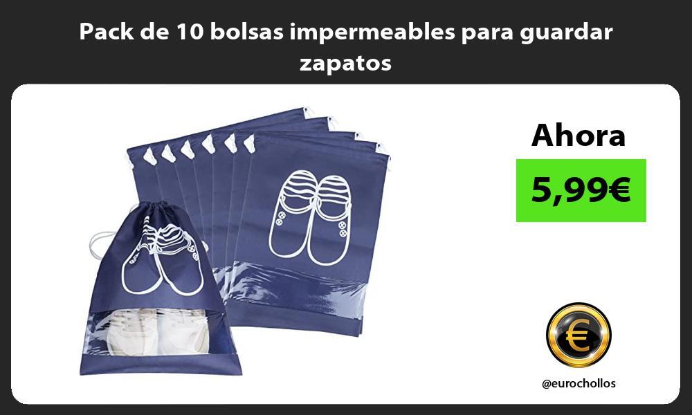 Pack de 10 bolsas impermeables para guardar zapatos