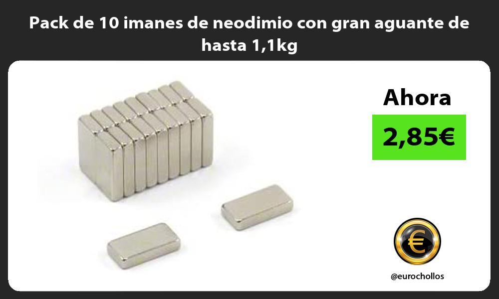 Pack de 10 imanes de neodimio con gran aguante de hasta 11kg