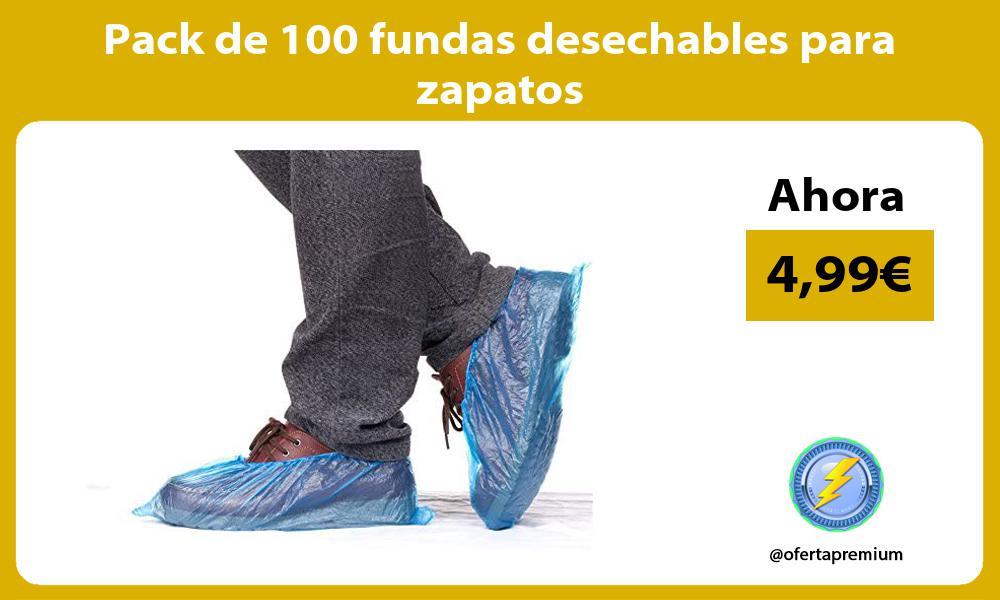 Pack de 100 fundas desechables para zapatos