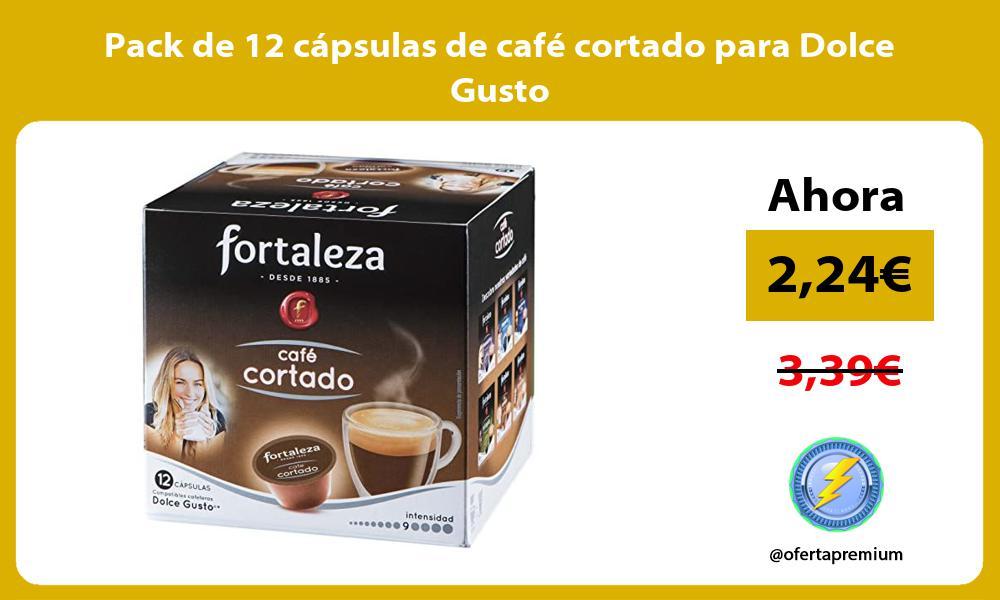 Pack de 12 cápsulas de café cortado para Dolce Gusto