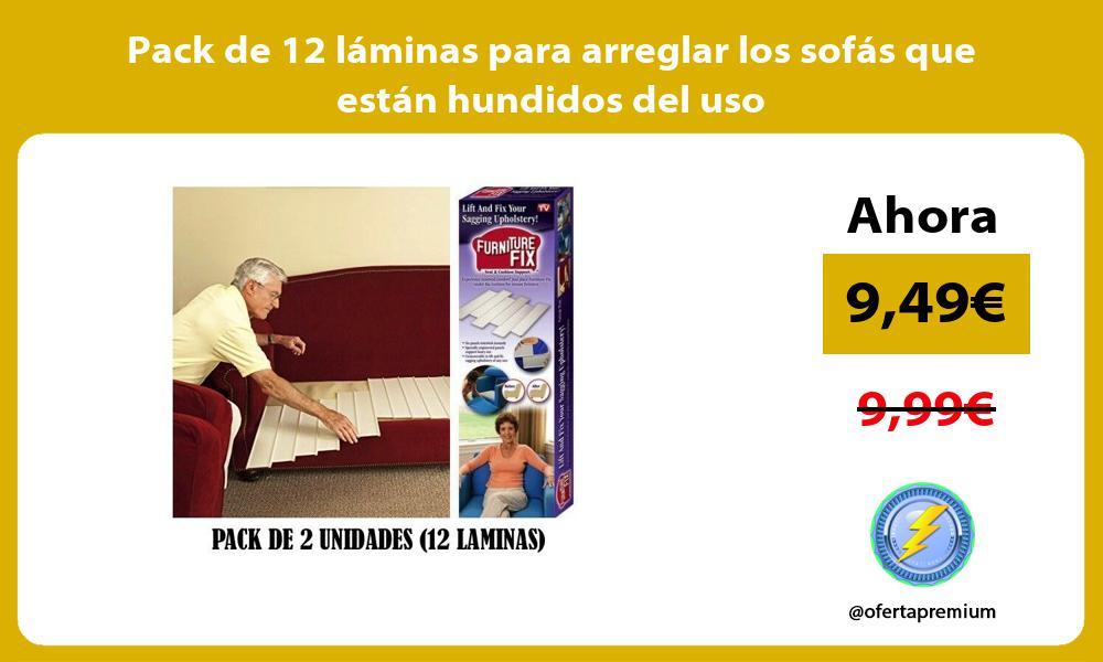 Pack de 12 láminas para arreglar los sofás que están hundidos del uso