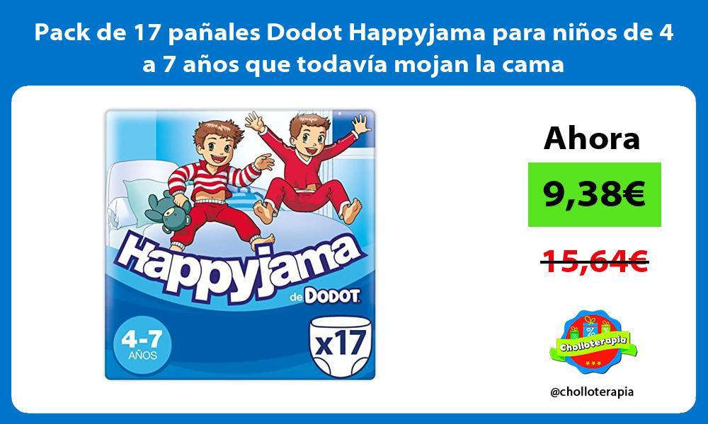 Pack de 17 pañales Dodot Happyjama para niños de 4 a 7 años que todavía mojan la cama