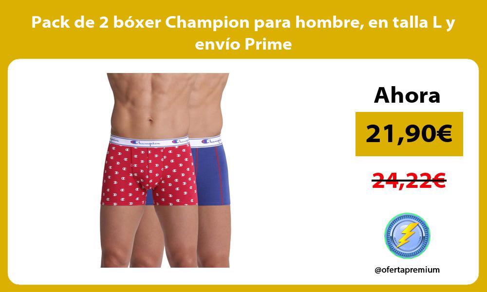 Pack de 2 bóxer Champion para hombre en talla L y envío Prime