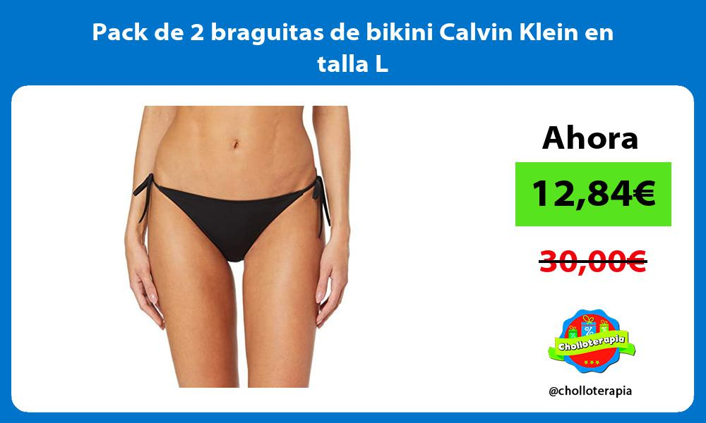 Pack de 2 braguitas de bikini Calvin Klein en talla L
