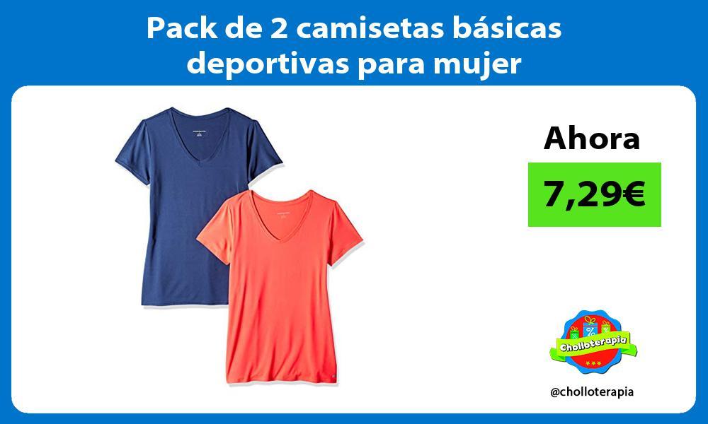 Pack de 2 camisetas básicas deportivas para mujer