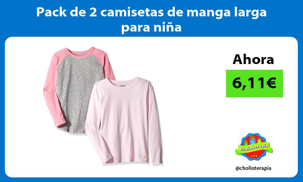 Pack de 2 camisetas de manga larga para niña