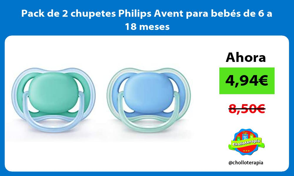 Pack de 2 chupetes Philips Avent para bebés de 6 a 18 meses