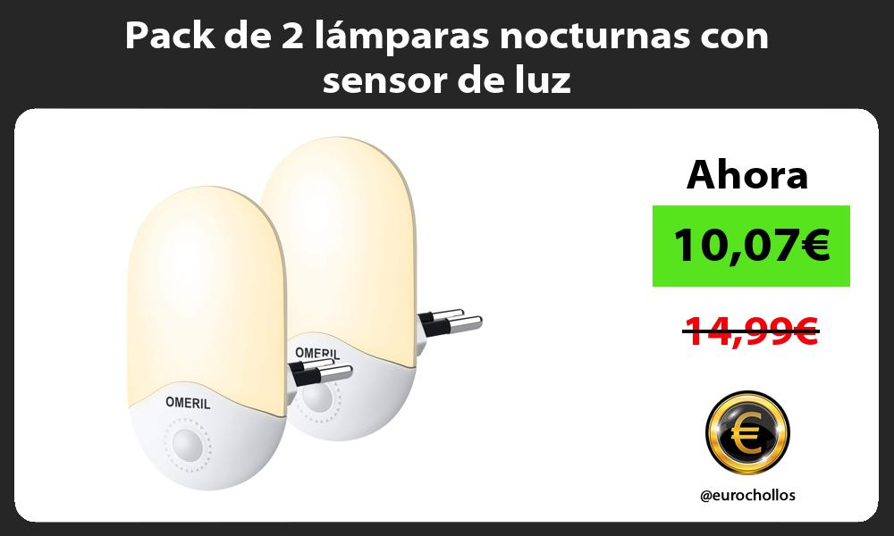 Pack de 2 lámparas nocturnas con sensor de luz