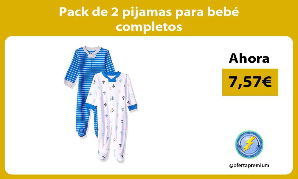 Pack de 2 pijamas para bebé completos