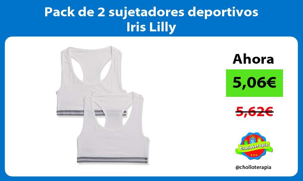 Pack de 2 sujetadores deportivos Iris Lilly