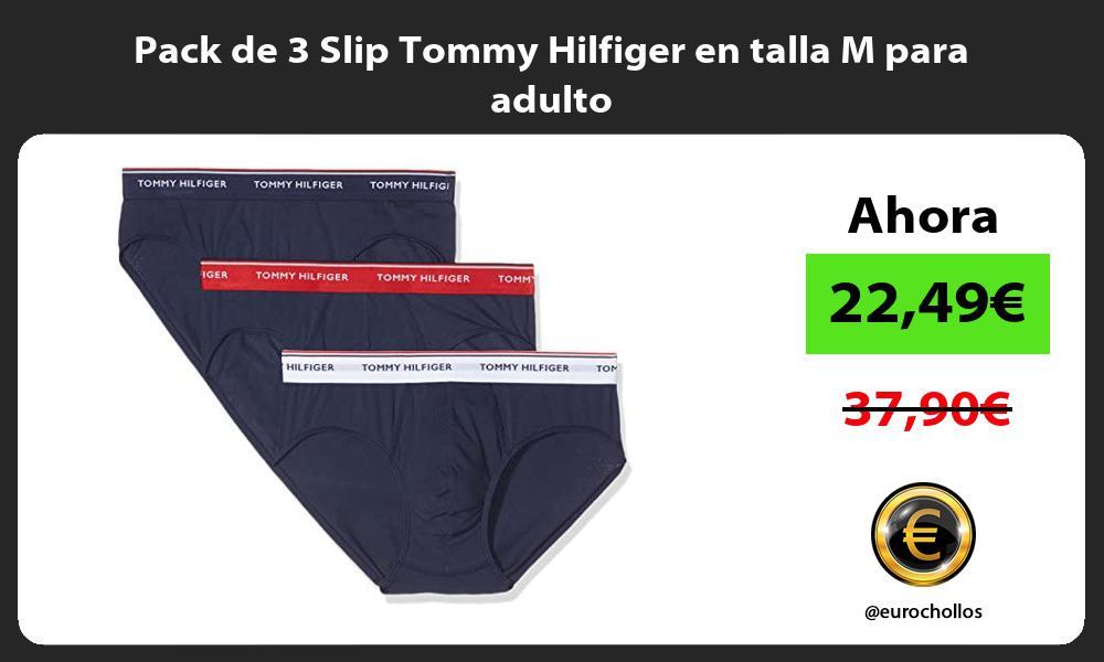 Pack de 3 Slip Tommy Hilfiger en talla M para adulto