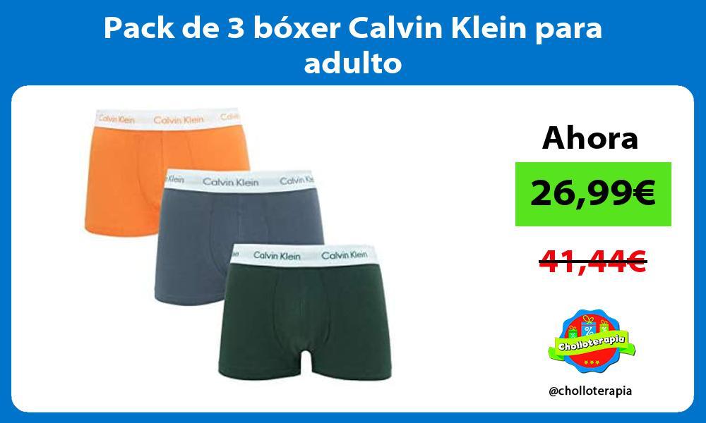 Pack de 3 bóxer Calvin Klein para adulto