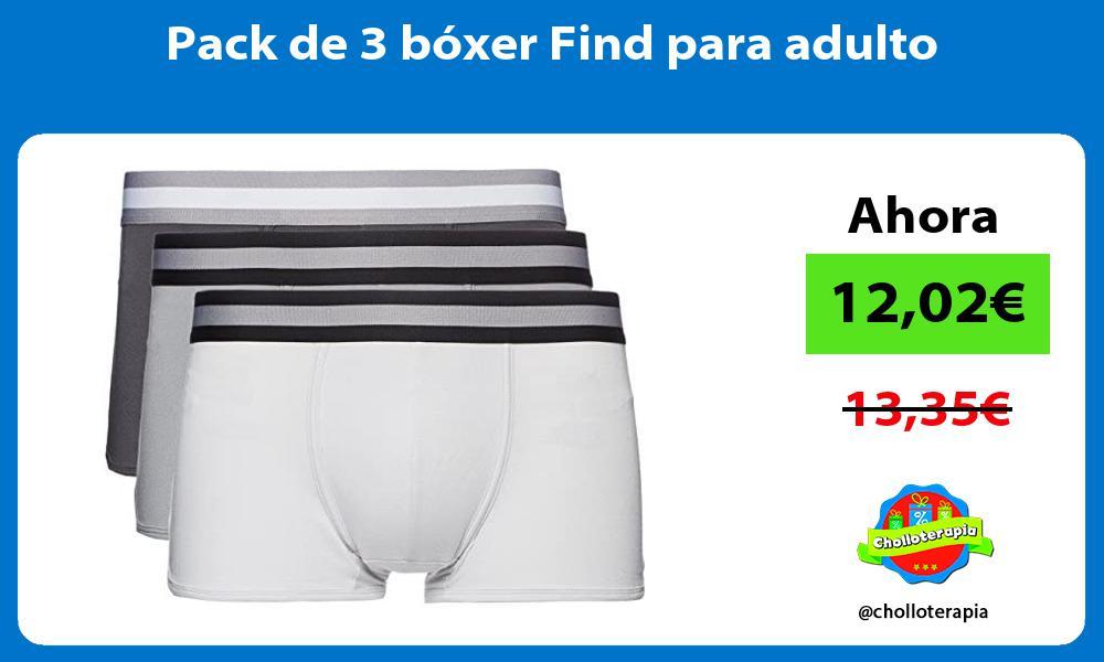 Pack de 3 bóxer Find para adulto