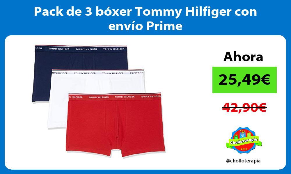 Pack de 3 bóxer Tommy Hilfiger con envío Prime