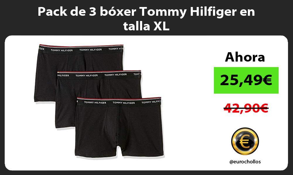 Pack de 3 bóxer Tommy Hilfiger en talla XL