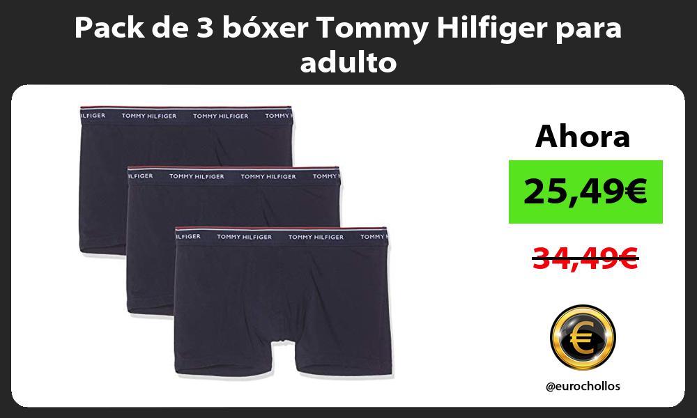 Pack de 3 bóxer Tommy Hilfiger para adulto