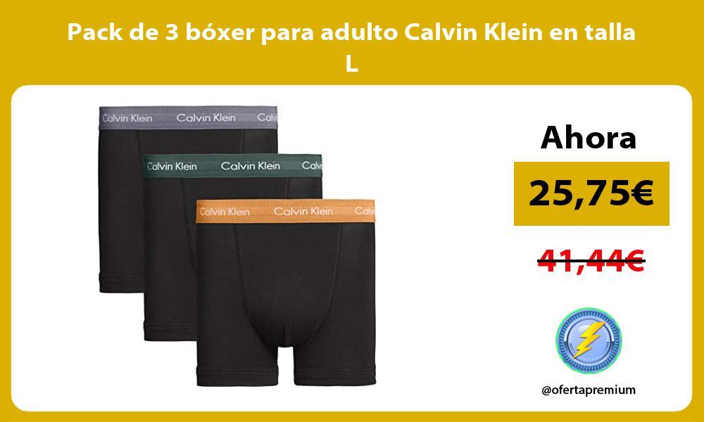 Pack de 3 bóxer para adulto Calvin Klein en talla L