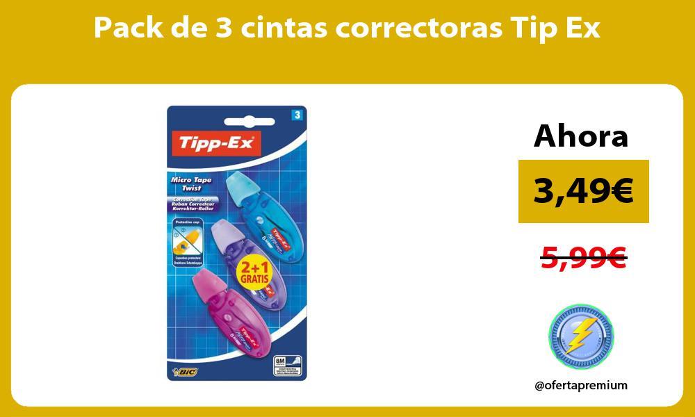 Pack de 3 cintas correctoras Tip Ex