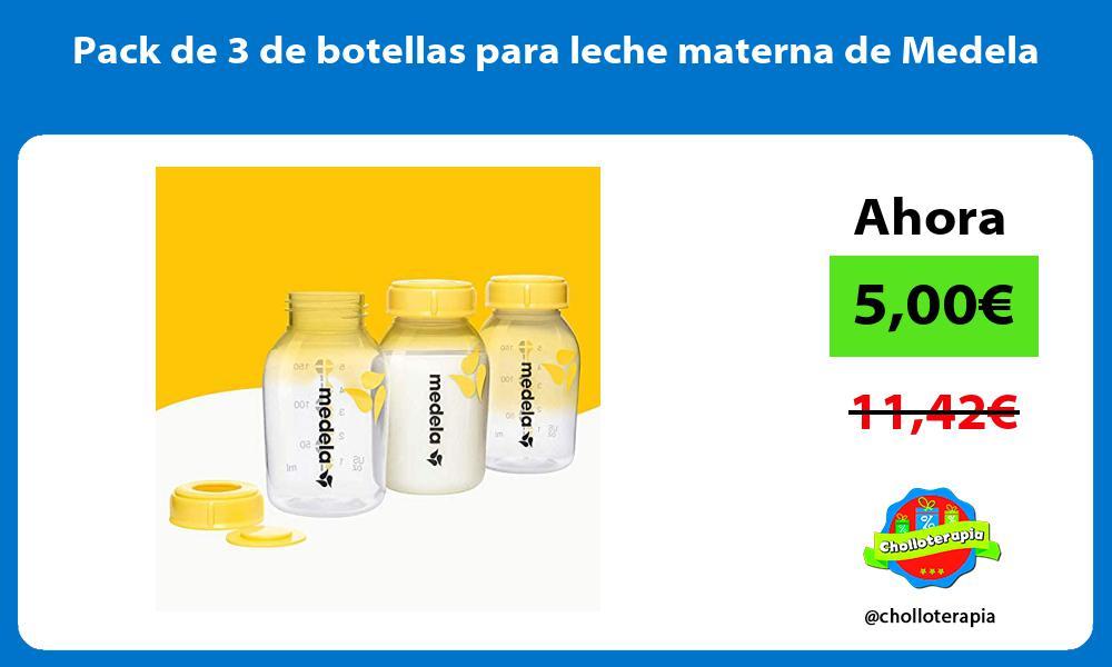 Pack de 3 de botellas para leche materna de Medela