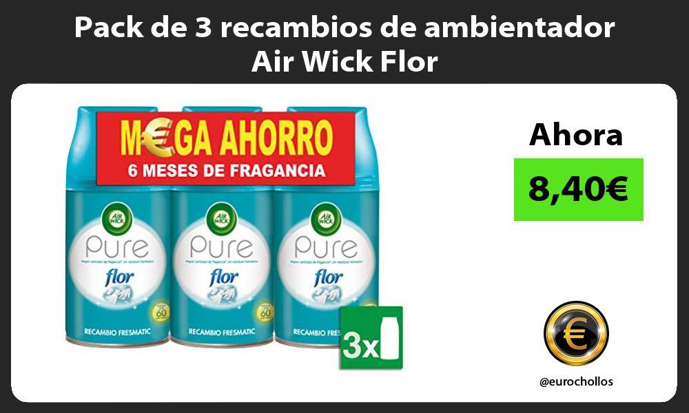 Pack de 3 recambios de ambientador Air Wick Flor
